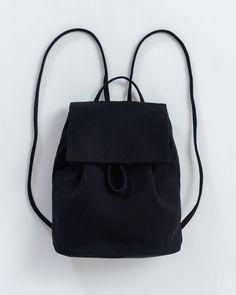 fe35802f9228 Canvas Mini Backpack - Canvas Backpack - Black - Black - A petite canvas  backpack.