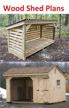 Wood Shed Plans and Instructions - Storage Shed Plans - Small wood shed plans for your storage of fire wood. 8x12 Shed Plans, Wood Shed Plans, Shed Building Plans, Building Ideas, Building Design, Diy Storage Shed Plans, Wood Storage Sheds, Small Wood Shed, Shed Ramp