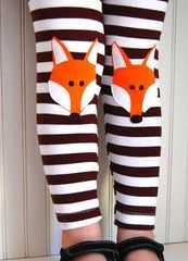 Animal knee patches , Fox Leggings Brown Stripe Girls Sizes 1218 mos 2 by thetrendytot, Little Girl Fashion, My Little Girl, My Baby Girl, Little Fashionista, Look Fashion, Kids Fashion, Nail Fashion, Fashion Wear, Fashion Dolls
