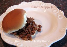 Nana's Crock Pot Sloppy Joes ~ Home Sweet Thrifty Home
