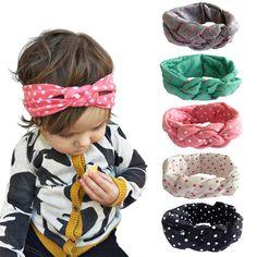 Andy's Share Baby Mädchen Neueste Turban Stirnband Kopf Verpackung Haarband