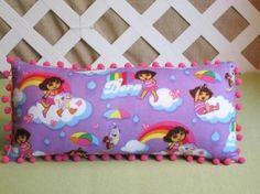 Dora Pillow for Girls in Purple | JRsPillowsandBags - Children's on ArtFire