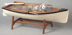 row boat coffee table