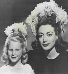 April 1946. Matching Easter-bonnet publicity.  Joan Crawford