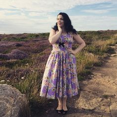 @pinupgirlclothing #pinupgirlclothing #pug #pinup #rockabilly #rockabella #50s #vintage #dress #purple #heather