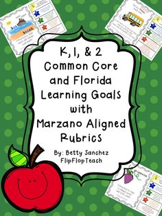 CCSS Gr 2 Reading Foundation Learning Goals with Rubrics.  Other CCSS and Florida LAFS and MAFS for K, 1,  2 are available.