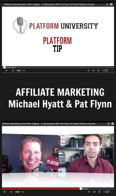 Monetize your blog with affiliate marketing. Michael Hyatt chats with Pat Flynn about affiliate marketing with integrity. {video} http://michaelhyatt.com/affiliate-marketing-with-integrity.html