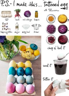 An egg-cellent DIY project,, using stunning colors come from Mother Nature herself, so we put aside those store-bought dyes and topped them off with cute graphics.