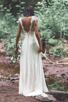 Krystel dans la robe Kim - Stéphanie wolff Paris crédit photo Adriana Salazar #stephaniewolffparis #collectionsignature#robedemariéebohemechic