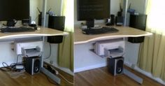 die besten 25 computer kabel verstecken ideen auf. Black Bedroom Furniture Sets. Home Design Ideas