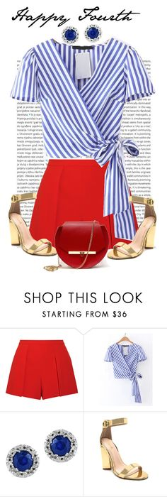 """""""Untitled #1329"""" by livbutterfield ❤ liked on Polyvore featuring Oris, Alice + Olivia, Effy Jewelry, Qupid and Angela Valentine Handbags"""