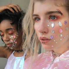 Babes wearing our Holographic Halter! <3