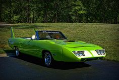 The first car to go 200mph on the Nascar Racetrack. 1970 Plymouth Superbird Convertible