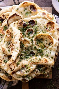 This homemade herbed garlic butter naan is a slight variation on an HBH classic. Its extra soft doughy chewy and brushed generously with caramelised garlic herb butter. Quite honestly youll have a hard time finding a better naan recipe out there. Indian Food Recipes, Vegetarian Recipes, Cooking Recipes, Healthy Recipes, Bread Recipes, Cooking Corn, Vegetarian Appetizers, Indian Snacks, Meatloaf Recipes