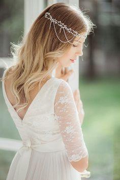 Boho wedding dress bohemian wedding creamy white lace dress