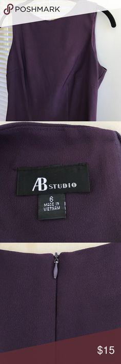 Plum Shift Dress Plum Sleeveless zip up back Shift dress Day to Night  like new MAKE AN OFFER AB Studio Dresses Midi