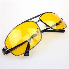 631c4602748 Metal Frame Night Vision Polarized Driving Anti-Glare Glasses
