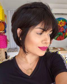 Pretinho emponderador! 👩🏻 #hair #hairstyle #shorthair #cabelocurto #blackhair Blond, Hoop Earrings, Instagram, Fashion, Black, Moda, Fashion Styles, Fashion Illustrations, Earrings