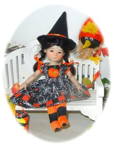 """GOOD LITTLE WITCH OUTFIT FOR TEN PING  OR GIGI RUbY RED 8"""" DOLL!"""