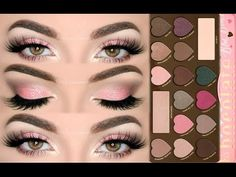 ♡ Sugar Pink Glitter Makeup Tutorial - Chocolate Bon Bons Palette | Melissa Samways ♡ - YouTube