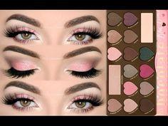 ♡ Sugar Pink Glitter Makeup Tutorial - Too Faced Chocolate Bon Bons Palette | Melissa Samways ♡ - YouTube #toofaced