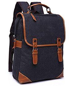 BAOSHA BP-14 Vintage Unisex Canvas Laptop Computer Bag College School  Backpack Shoulder Bags Outdoor 2a8a919226