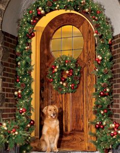 This Christmas, let your front door be just as cheerful and inviting as the rest of your home! Decorate your doorway with the regal beaded garland for an entrance your guests are sure to love!