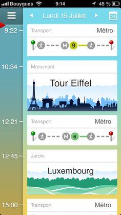Martin vous guide screen line # travel Mobile Web Design, App Ui Design, User Interface Design, Timeline Design, App Design Inspiration, Ui Web, Interactive Design, Ipad, Simple