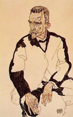 """german-expressionists: """" Egon Schiele, Portrait of Heinrich Benesch, 1917 """""""