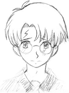 It's Harry Potter! I love Harry Potter. ^^ I had forgotten how much I love the books till I read book Then I discovered that I completely forgot ev. Harry Potter looking cute Harry Potter Colors, Harry Potter Free, Harry Potter Anime, Colorful Drawings, Easy Drawings, Harry Potter Drawings Easy, Imprimibles Harry Potter Gratis, Deathly Hallows Book, Harry Potter Coloring Pages