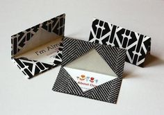 origami business card holder