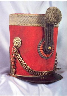 1815. cavalry shako 4th regiment hussars. worn by commander Desbats