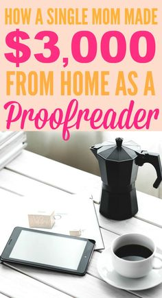 How this mom made $3,000 from home as a proofreader is INSPIRING! I'm so glad I found these GREAT tips! Now I have some actual ways to make money from home! Definitely pinning for later!