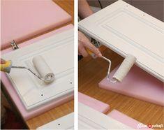 malowanie szafek Decoupage, Diy And Crafts, Interior, House, Kitchen, Indoor, Cuisine, Design Interiors, Haus