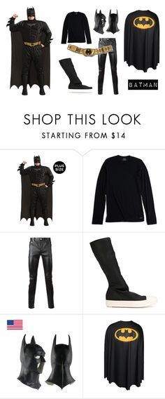 """Batman"" by aisyavi on Polyvore featuring Calvin Klein, Yves Saint Laurent, DRKSHDW, men's fashion and menswear"