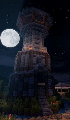 Medieval tower, minecraft