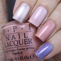 SnapWidget | @opi_products New Orleans skittle mani using Take a Right on Bourbon, Let Me Bayou a Drink, Humidi-Tea and Show Us Your Tips! @opicanada #opi