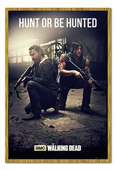 The Walking Dead Hunt Or Be Hunted Poster Magnetic Notice Board Oak Framed - 96.5 x 66 cms (Approx 3 @ niftywarehouse.com #NiftyWarehouse #WalkingDead #Zombie #Zombies #TV