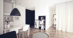 NORDIC APARTMENT by Alina Rybacka-Gruszczyńska, via Behance Small Places, Loft, Small Apartments, Deco, Indoor, Interior Design, Studio, House, Embellishments