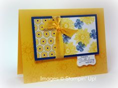 Love this color combo - so ready for summer and love the Stampin' Up!   Summer Smooches Suite!