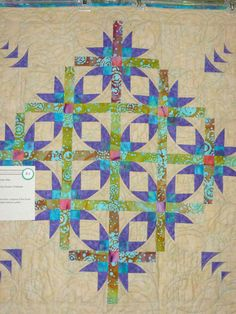 teal quilt | Mexican Star Quilt | Bri-Lee Quilting, Batting & Fabric