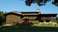 """Greene and Greene - Gamble house example of art and craft """"ultimate bungalows"""" in the year 1908"""
