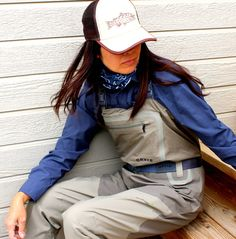 The Orvis Silver Sonic Waders for women.