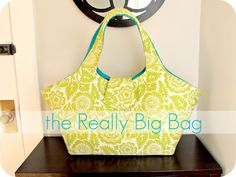 The Really Big Bag. I generally hate sewing, but maybe someday I'll make this!