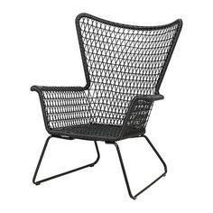 HÖGSTEN Fåtölj, utomhus - svart, - - IKEA