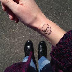 love skull tattoo #line #simple #allblack