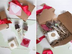 Hot Chocolate Gift Boxes with Letterpressed coasters