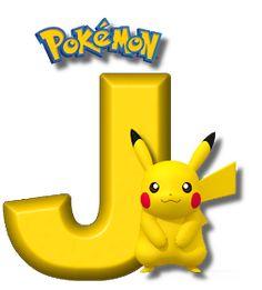 Abecedario de Pikachu de Pokémon. Pikachu Alphabet. Brother Birthday, 8th Birthday, Pokemon Party Supplies, Pikachu Drawing, Super Mario Birthday, Edible Printing, Pokemon Birthday, Tricks, Crafts