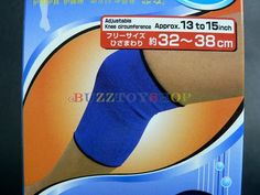 JAPAN DAISO KNEE WRAP SUPPORT ELASTIC BRACE BAND PATELLA SPORT PAD 32-38CM