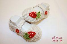 Strickanleitungen - E-Book❀#15 * Erdbeer - Ballerinas * Anleitung - ein Designerstück von WoolAffair bei DaWanda